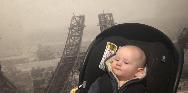Baby in museum
